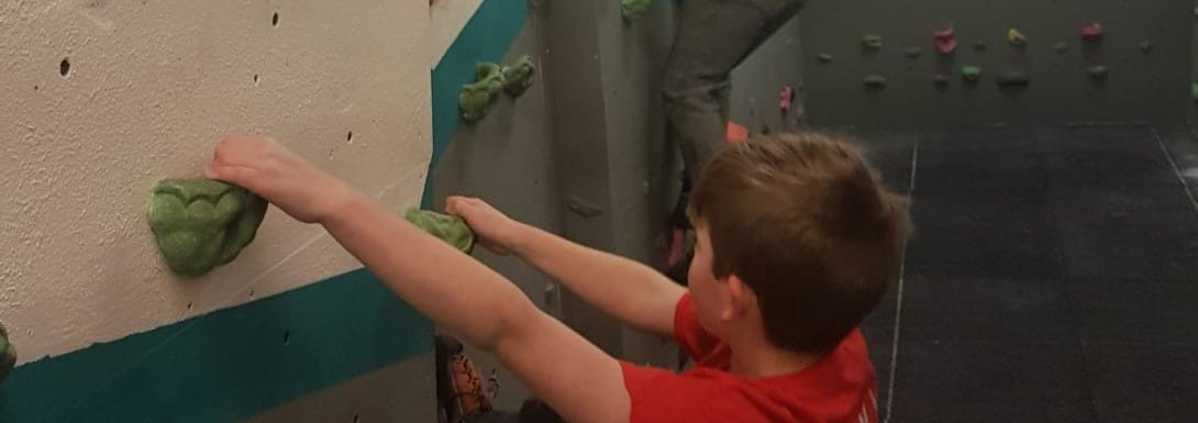 4th wall in 4th week of children's intro to climbing