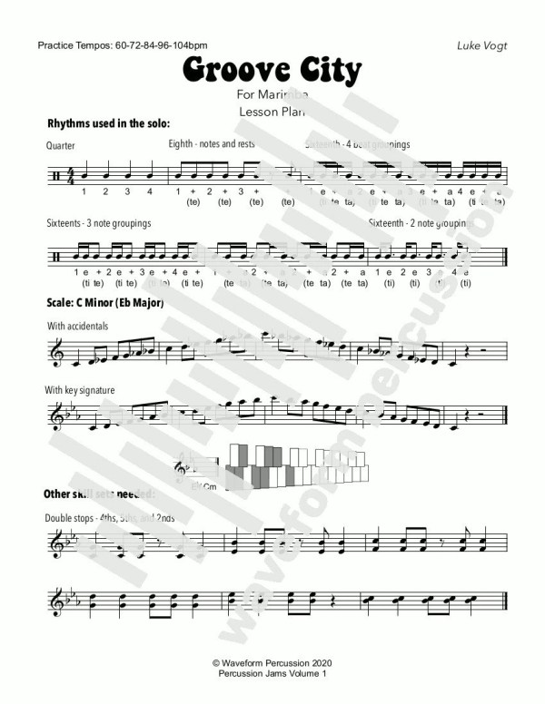 Groove City Marimba Lesson Plan - preview
