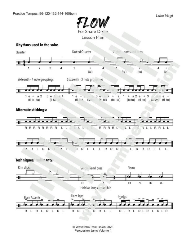 Flow Snare Lesson Plan Preview
