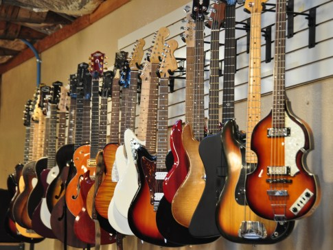 Basses and Guitars
