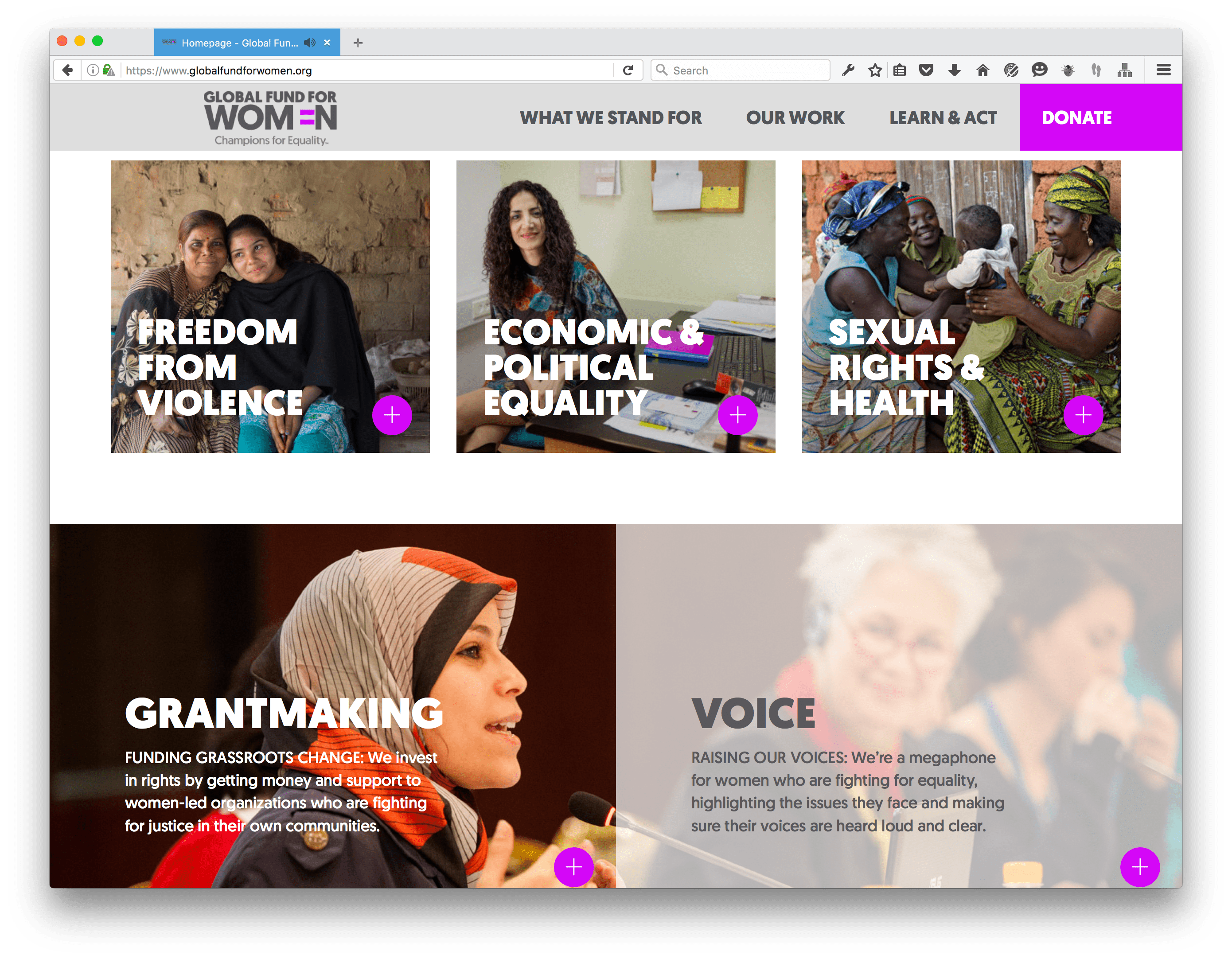 Global Fund for Women Homepage
