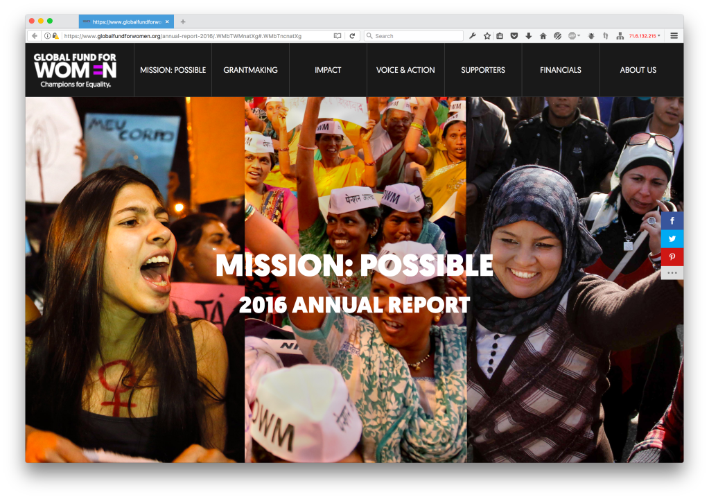 Global Fund for Women 2016 Annual Report