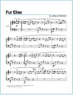 free printable sheet music for piano # 1