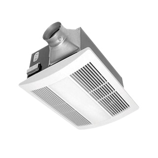 panasonic fans whisperwarm fv 0511vhl1 bathroom exhaust fan heat lite 50 80 110 cfm 0 7 sones
