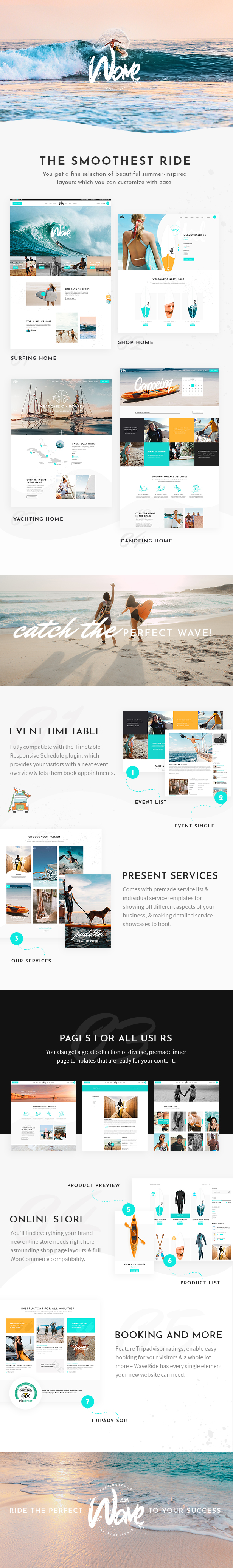 WaveRide - Surfing and Water Sports Theme - 1