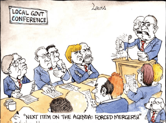 Forced Merger cartoon