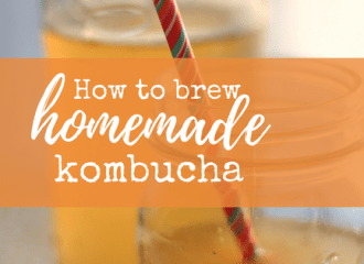 how to brew homemade kombucha from www.wavesandlilacs.com