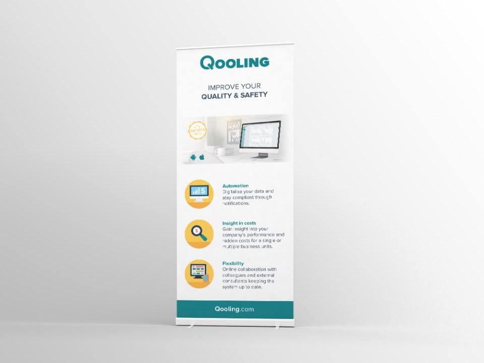 Roll-up banner voor Qooling