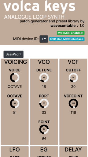 Volca keys patch mobile version