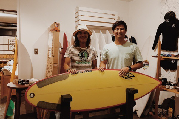 POSITIVE SURFBOARDS 石井さん