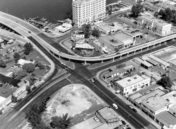 Historic 5th Ave, Alton Rd, West Ave, MacArthur flyover 1958