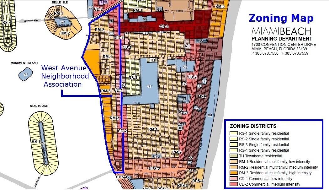 Miami Beach Zoning Map Zoning Maps | West Avenue Neighborhood Association (WAvNA)