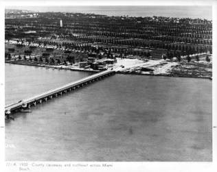 Bridge to South Beach, now MacArthur causeway