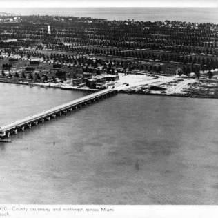 Bridge to South Beach, now MacArthur causeway