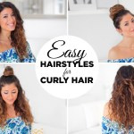3 Easy Hairstyles For Curly Hair - Youtube with Easy Hairstyle For Curly Hair