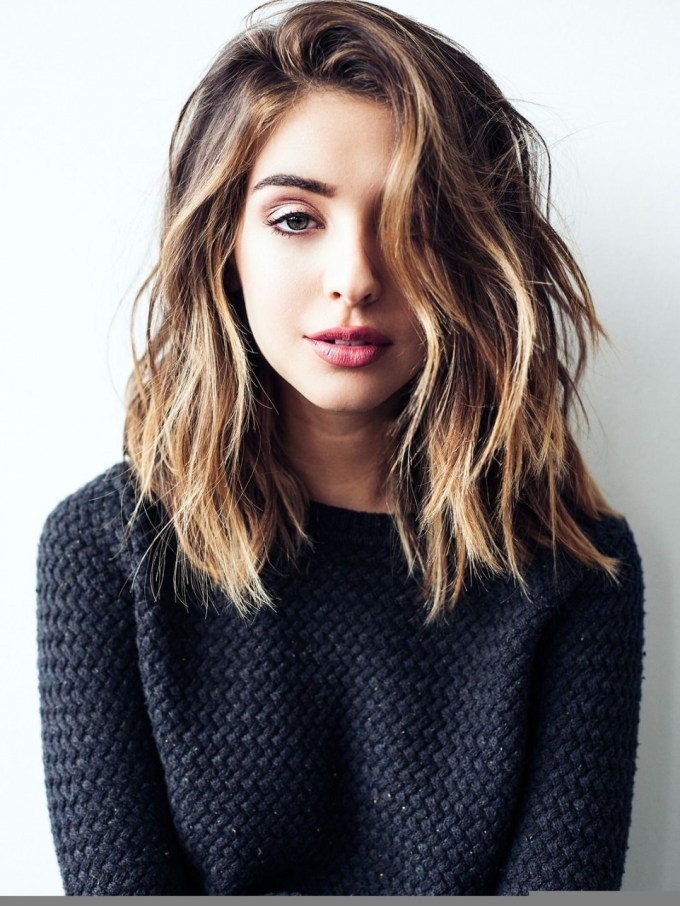 Cute Medium Length Hairstyle Pinterest Hairstyles For Medium Long within Medium Haircuts For Thick Hair Pinterest
