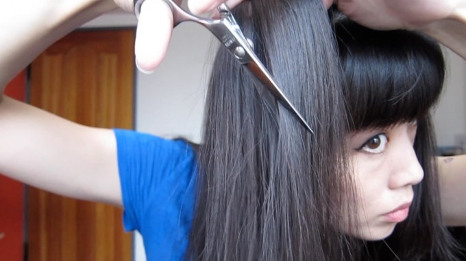How To Thin Out Your Hair With Shears Or A Razor - Youtube pertaining to Hair Cut For Thin Hair At Home