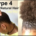 Lazy Hairstyle For Thick, Kinky Curly Natural Hair | How To: Sleek inside Hairstyle For Thick Kinky Hair