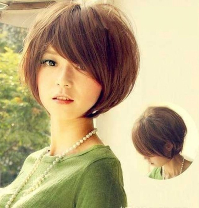 short hairstyle for round face korean - wavy haircut