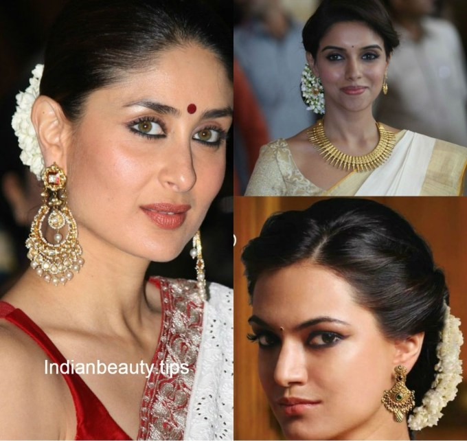 Traditional South Indian Hairstyle - Google Search   Hair & Beauty throughout Hairstyle For Square Face On Saree