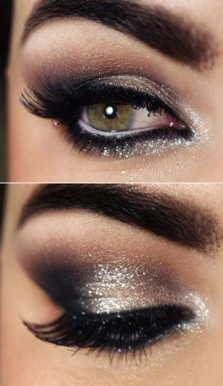 evening makeup looks for hazel eyes - wavy haircut