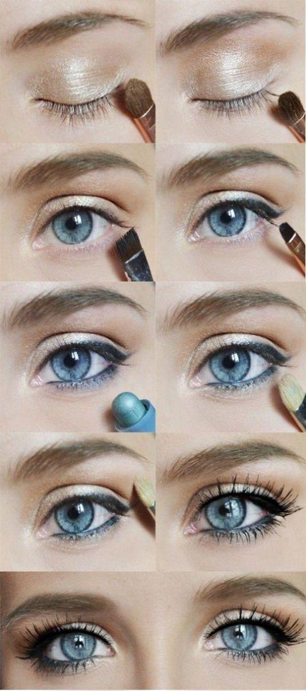 cute makeup styles for hazel eyes - wavy haircut