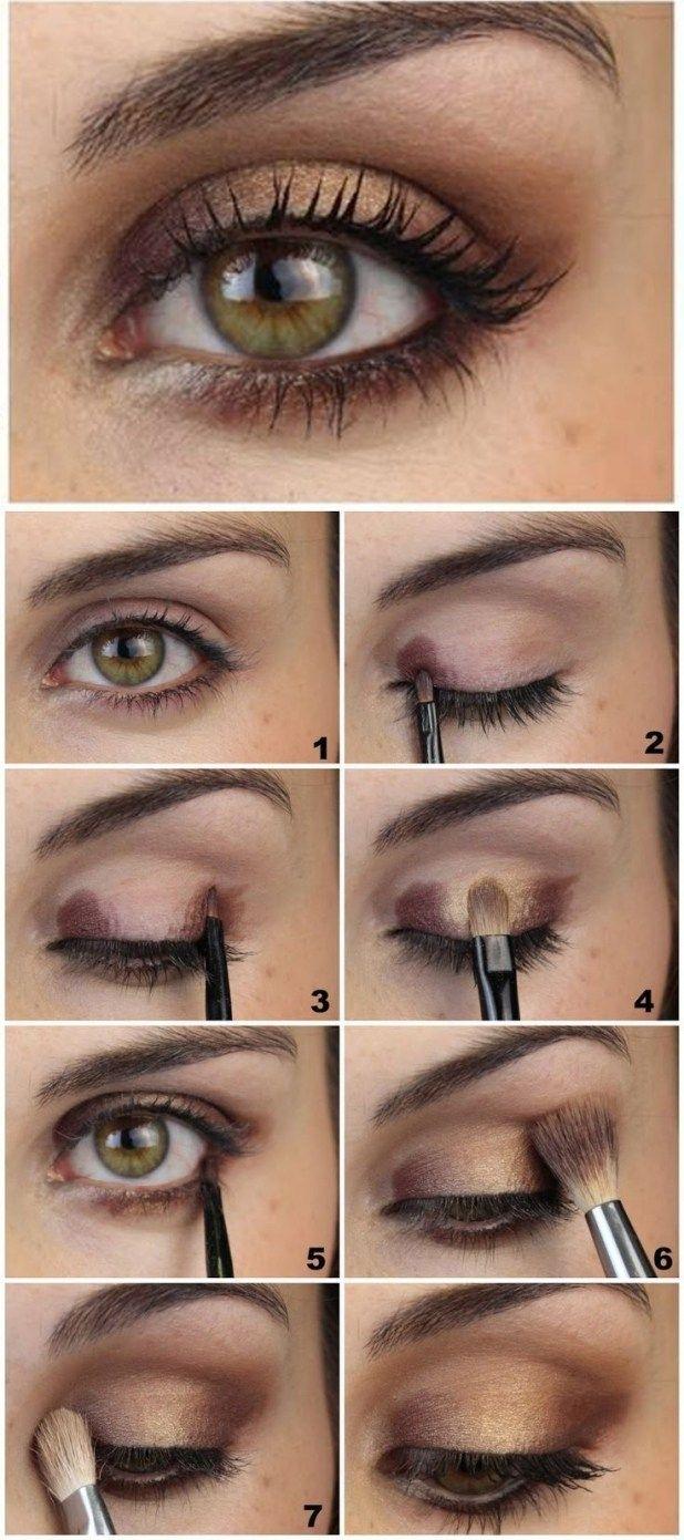 how to wear blue eyeshadow with hazel eyes - wavy haircut