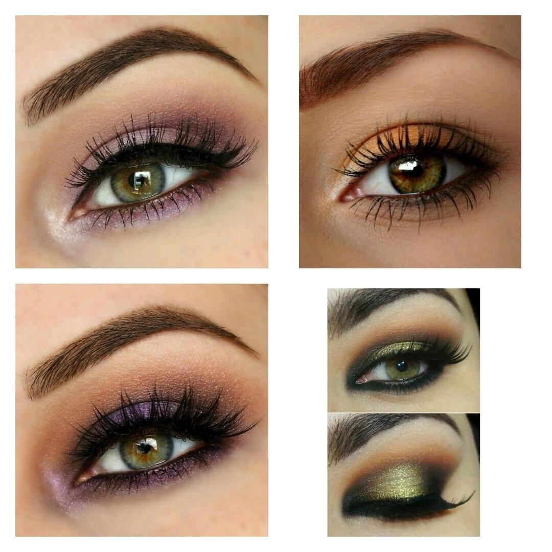 eyeshadow colors for hazel green eyes - wavy haircut