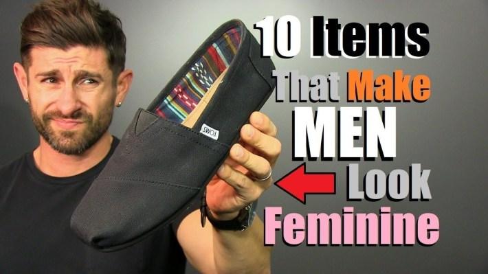 10 Items That Make Men Look Feminine! - Youtube inside Very Feminine Clothing For Men
