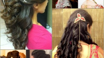 Curly Hairstyles For Long Hair Indian Wedding - Short Curly Hair for Curly Indian Bridal Hairstyles