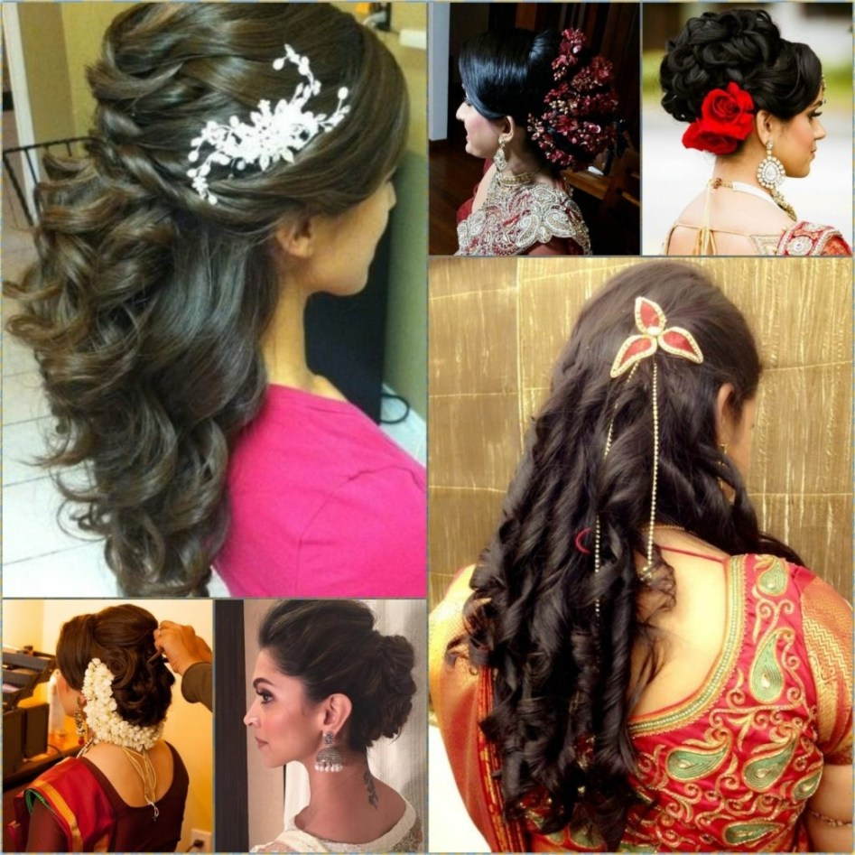 hairstyles for short curly hair indian weddings - short