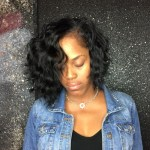 Cute And Choppy Body Wave Bob Sew In Using My Raw Indian Body Wave in Body Waves For Short Black Hair