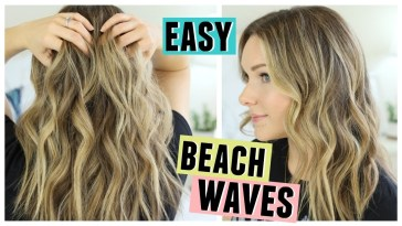 Easy Beach Waves Hair | How I Style My Hair - Youtube in How To Create Cute Wavy Hairstyles