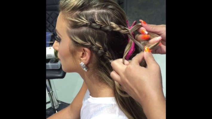 ? Braids All Around! Hip Hop Styling By Kykhair - Youtube inside Hip Hop Hairstyles Girls