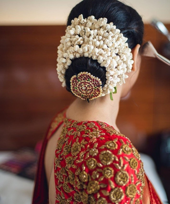 Hair Style | Blouse In 2019 | Bridal Hair Buns, Indian Hairstyles for Indian Bridal Hair Accessories List