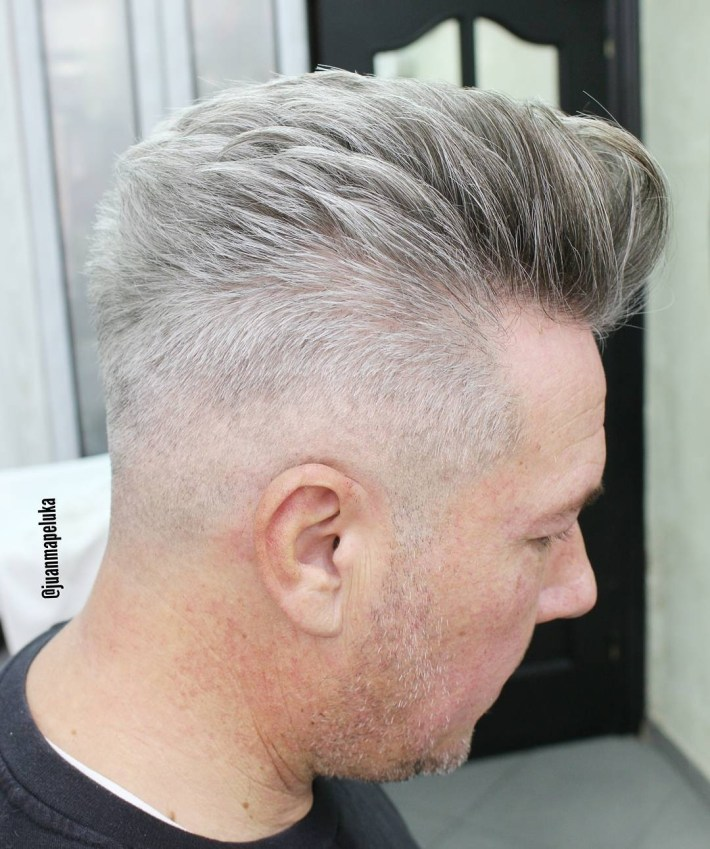 Hairstyles For Older Men with regard to Thin Grey Hair What Is The Best Haircut
