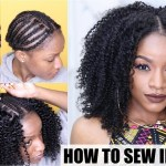 How To: Natural Hair Sew-In Weave Start To Finish - Youtube with regard to How To Turn Straight Weave Into A Curly Afro 14 Inches