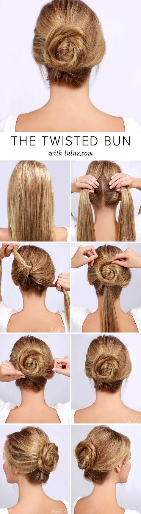 simple cabin crew hair bun - wavy haircut