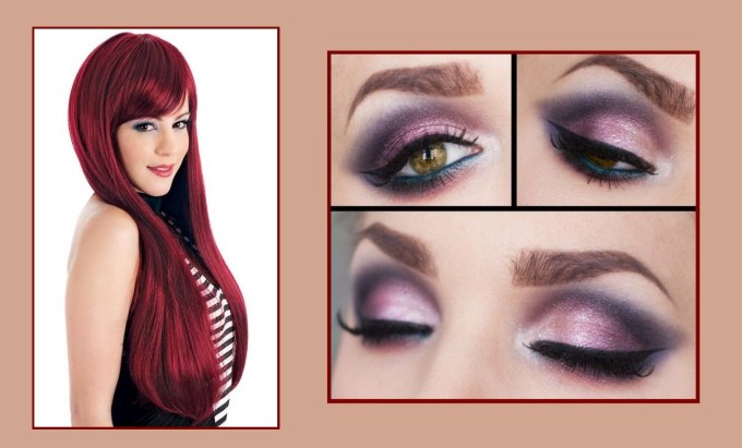 makeup ideas for hazel eyes and red hair - wavy haircut