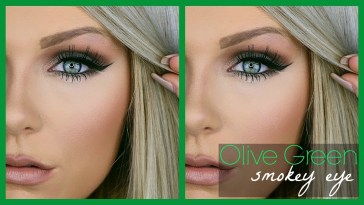 Olive Green Smokey Eye | Makeup Tutorial - Youtube in Makeup Tips For Green Eyes And Blonde Hair