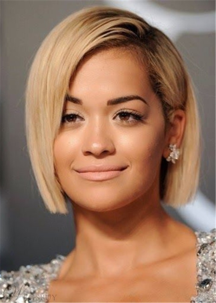 Short Bob Cut One Side Parted Human Hair Capless Wig: Wigsbuy throughout Hair Cut One Side Short