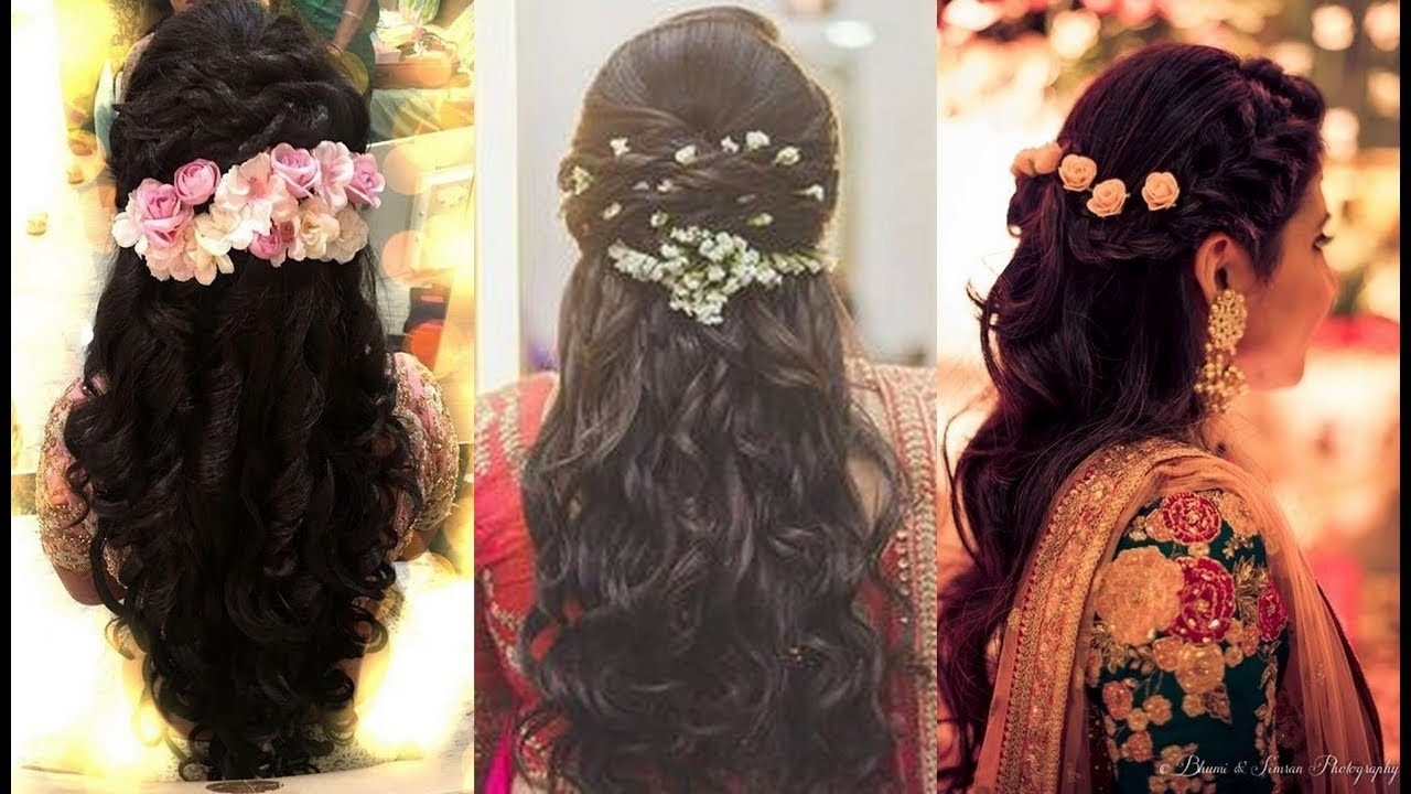 indian wedding dinner hair style - wavy haircut