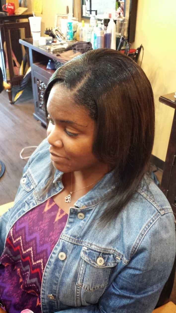 how long is a 12 inch sew in - wavy haircut