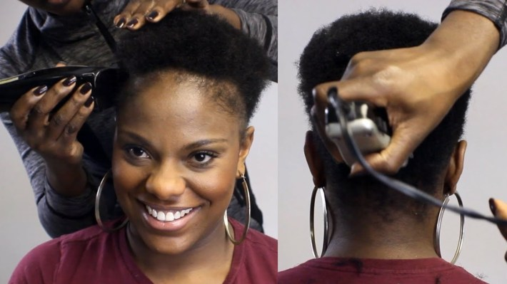 Watch Me Taper Cut Her Natural Hair!! (Beautycutright) - Youtube for Fade Hairstyles For Black Women With Alopecia