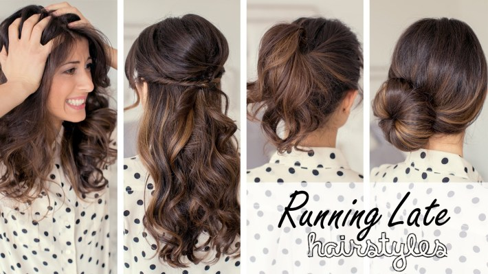 12 Easy Hairstyles To Do When Running Late | Indian Makeup And pertaining to Casual Indian Hairstyles For Medium Hair