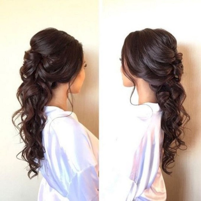 15 Beautiful And Adorable Half Up Half Down Wedding Hairstyles Ideas inside Very best Asian Wedding Hairstyles For Long Hair
