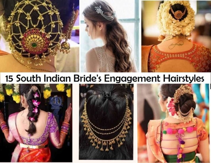 15 Popular South Indian Bridal Hairstyles For Engagement - Tbg within Bridal Hairstyle In South Indian Style