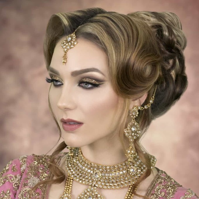 2019 Asian Wedding Hairstyles | London Bridal Hairstylist & Tutor with Superb Asian Indian Wedding Hairstyles