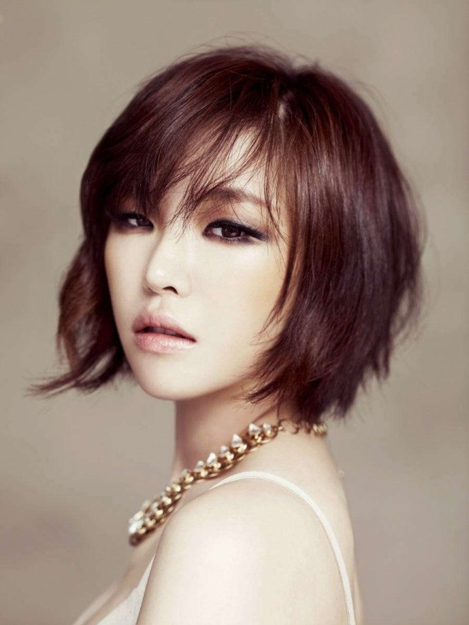 25 Gorgeous Asian Hairstyles For Girls throughout Best Asian Hairstyles With Side Bangs