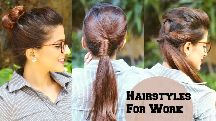 3 Quick Everyday Hairstyles For Work, Office, College / No Teasing, No  Hairspray / Indian Hairstyles intended for Casual Indian Hairstyles For Medium Hair